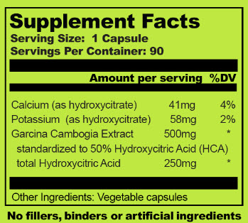 Garcinia Cambogia Select Ingredients